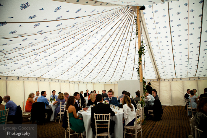 country-wedding-traditional-pole-tent-indian-lining