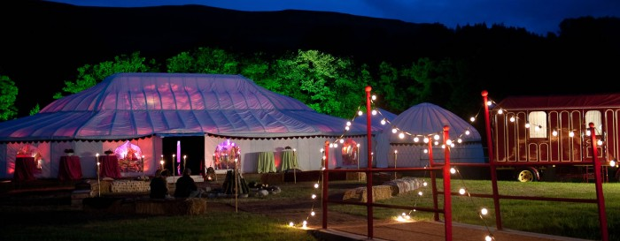 The Orangery with attached Yurts
