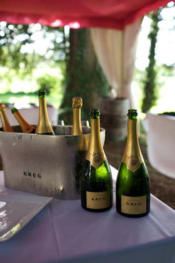 Krug Champagne in Top Hat Reception Tent